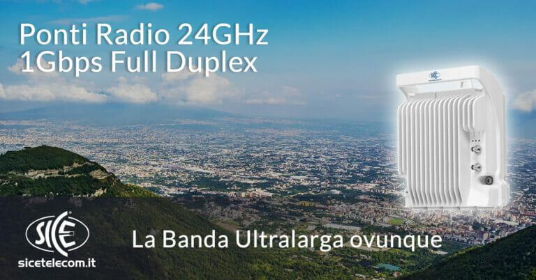 ponti radio 24GHz banda ultralarga SICE