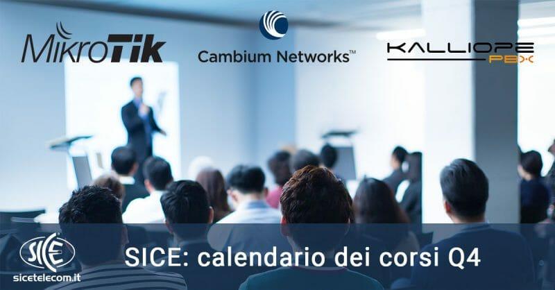 Calendario Corsi Q4