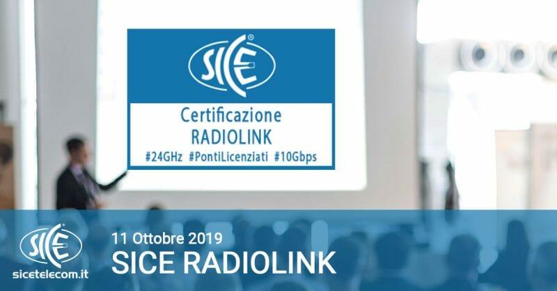 SICE Radiolink 11 ottobre 2019