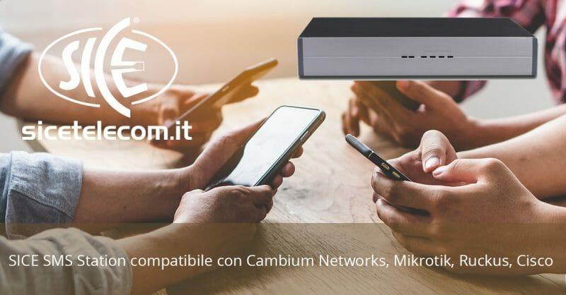 SICE: SMS Station compatibile con Hotspot WiFi Cambium Networks