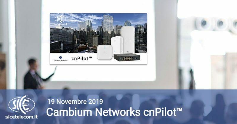 Corso SICE cnPilot 19 novembre 2019